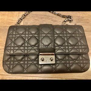 Christian Dior Quilted Matte Black Handbag